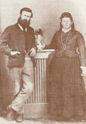 Anna Maria (Norrish) Treasure with her brother George Norrish (1844-1911)