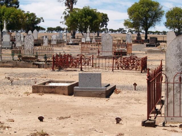 Grave Marker (lower left) for Robert Muir (1829-1900); Dimboola Cemetery
