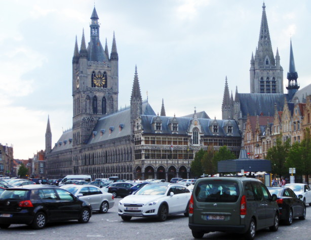 The restored Cloth Hall at Ypres (Ieper); 26 July 2013.